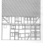 Bauzeichnung Hofansicht